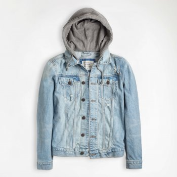Джинсова куртка Abercrombie & Fitch AF8134M Блакитний