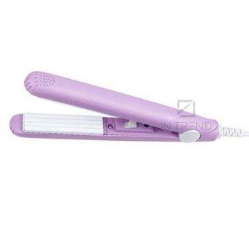 Міні Утюжок-Гофре дорожній - плойка щипці для прикореневого об'єму волосся – прилад для укладання волосся, модною і оригінальною зачіски, - Фіолетовий