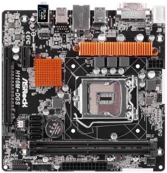Материнська плата AsRock H110M DGS ( 90-MXB0S0-A0UAYZ) (s1151, Intel H110, PCI-Ex16), RMA