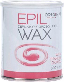 Віск для депіляції Original Best Buy Epil Wax жиророзчинний з титан-діоксидом для сухої та чутливої шкіри 800 мл (5412058185892)