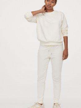 Спортивные брюки H&M 0803757-1 Молочные