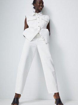 Брюки H&M 0865799-1 Белые
