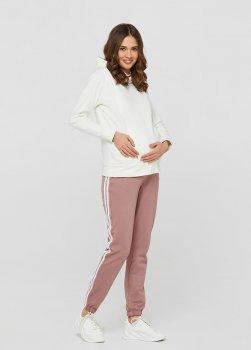 Спортивные штаны с лампасами для беременныхullababеublin Темная пудра