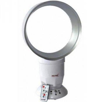 Безлопастной вентилятор Hilton 4196 с теплым обдувом+ночной свет+Пульт. БЕЗопасен для детей ( TA76Rist)