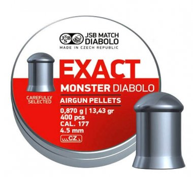 Пули JSB Diabolo EXACT MONSTER 4,5mm. 400шт. 0,870г.