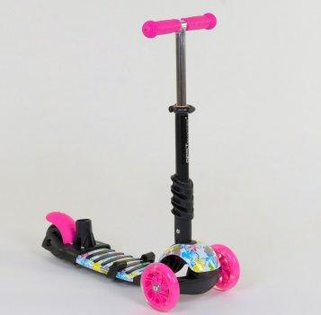 Дитячий самокат 5 в 1 Best Scooter (62310) Рожевий