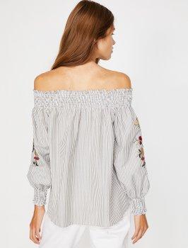 Блузка Koton 8YAK68314PW-10M Khaki Stripe
