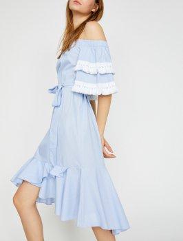 Платье Koton 8YAK82405UW-03N Blue Stripe