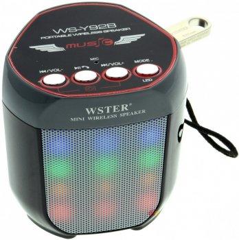 Портативна Bluetooth колонка Wester WS-Y92B з підсвічуванням Black (2_006055)