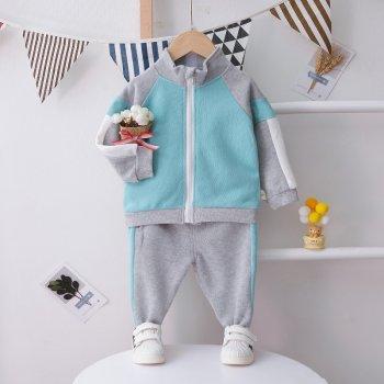 Комплект-двійка Pingvik 8688 розмір 110 колір сірий + блакитний