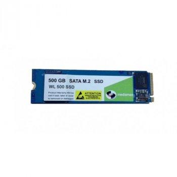 SSD 500GB Mediamax M. 2 2280 NVMe PCIe 3.0 x4 3D NAND TLC Blue (WL 500 SSD Blue) Refurbished напрацювання до 1%