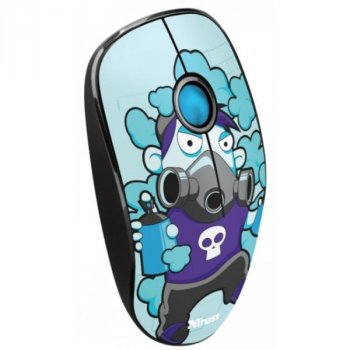 Мышь Trust Sketch Wireless Silent Click Mouse (23335) Blue USB