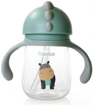 Бутылочка детская Babies Бегемот 260мл с ручками Fissman (Р01632317267)