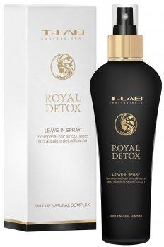 Несмываемый спрей T-LAB Professional Royal Detox для абсолютной детоксикации волос 130 мл (5060466660519)