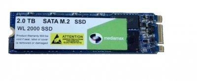 Накопичувач SSD 2TB Mediamax M. 2 2280 SATAIII 3D NAND TLC Blue (WL 2000 SSD Blue) - Refubrished