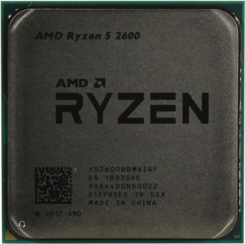Процесор AMD Ryzen 5 2600 (3.4 GHz 16MB 65W AM4) Tray (YD2600BBM6IAF)