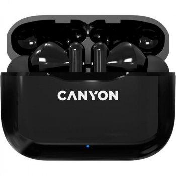 Bluetooth-гарнитура Canyon CNE-CBTHS3B Black