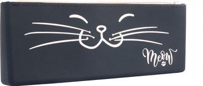 Пенал силиконовый YES SI-01 Meow Черный (532982)