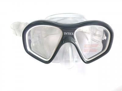 Набор для плавания маска, трубка Intex, серый (55648)