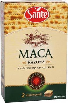 Упаковка мацы Sante цельнозерновой из муки грубого помола пшеницы и ржи 180 г х 2 шт (1900617013280)
