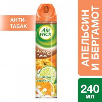 Аэрозольный освежитель воздуха Air Wick Анти-табак Апельсин и Бергамот 240 мл (3059943016576)