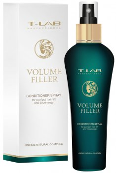 Спрей-кондиционер T-LAB Professional Volume Filler для непревзойденного объема и жизненной энергии волос 130 мл (5060466660458)