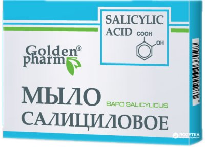Упаковка мыла Golden Pharm Салицилового 70 г х 5 шт (92214097037417)