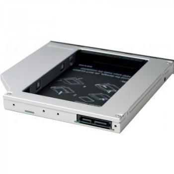 """Фрейм-адаптер Grand-X HDD 2.5"""" to notebook 12.7 mm ODD SATA/mSATA (HDC-25N)"""
