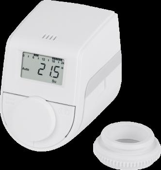 Электронный радиаторный терморегулятор Eqiva model Q белая (143478A0)