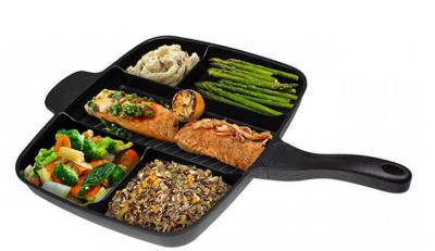 Сковорода гриль антипригарная многофункциональная Magic Pan на 5 секций 32 x 28 см