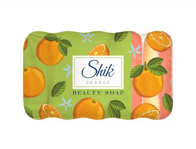 Мыло туалетное твердое Шик Апельсин 50/50 двухцветное 5 шт х 70 г