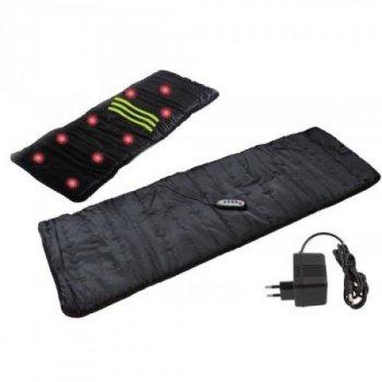 Массажный коврик Massage mat вибрационный 4 массажные зоны (шея, спина, поясница, ноги) + прогрев Черный (Арт.9347W)