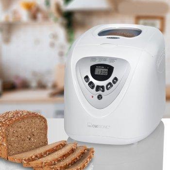 Хлібопічка CLATRONIC краща домашня хлібопічка з замісом на 12 програм для простого смачного хліба, печива, торта, здоби, паски, паски і джему. Біла BBA3505W