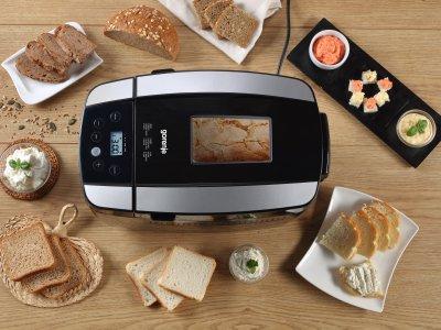 Хлібопічка Gorenje краща домашня хлібопічка з замісом на 12 програм для простого смачного хліба, кексу, здоби, паски, паски і джему. Чорна BM1210BKB