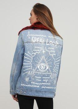 куртка Pimkie smix01110308 M Голубой 2000000531205
