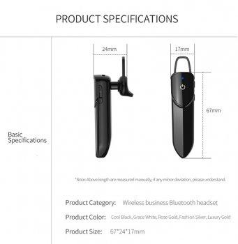 Гарнитура Bluetooth Kebidu V19 Black