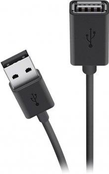 Кабель Belkin USB 2.0 (AM/AF) Extension cable 4.8 м Black (F3U153BT4.8M)