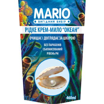 Жидкое крем-мыло MARIO 460мл (дой-пак) Океан