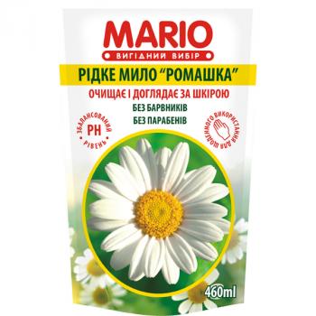 Жидкое крем-мыло MARIO 460мл (дой-пак) Ромашка