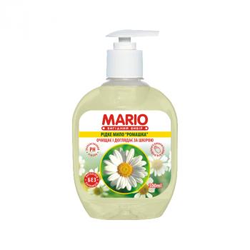 Жидкое крем-мыло MARIO 300мл (насос) Ромашка