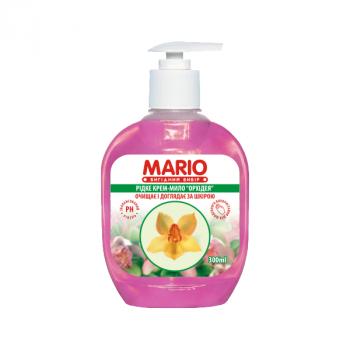 Жидкое крем-мыло MARIO 300мл (насос) Орхидея