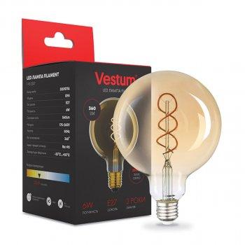"""Филаментная лампа Vestum """"вінтаж"""" golden twist G95 Е27 6Вт 220V 2500К 1-VS-2507"""