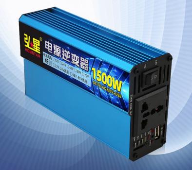 Інвертор напруги Voltronic, 1500W, 60/220V, approximated, 1 універсальна розетка, клеми + USB YT-1500W-CI60V