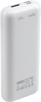 УМБ Vinga 10000 mAh Glossy White (VPB1MWH)