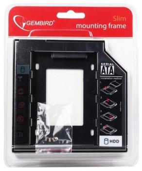 """Адаптер HDD 2,5"""" для ноутбука відсік CD-ROM Gembird MF-95-01 9.5 мм"""