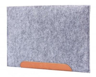 Фетровий чохол-конверт Gmakin для Macbook Air 13 (2012-2017) / Pro Retina 13 (2012-2015) сірий (GM10) Gray