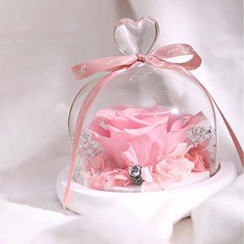 Стабілізована троянда в колбі Lesko L-1346 Pink