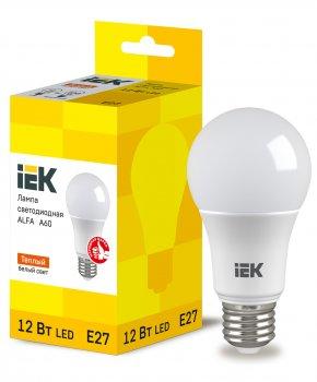 Лампа LED ALFA A60 куля 12Вт 230В 3000К E27 IEK (LLA-A60-12-230-30-E27)