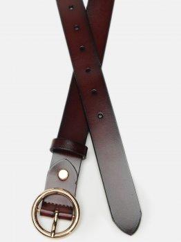 Женский кожаный ремень Laras CV10ZK-037-brown Коричневый (ROZ6400031924)