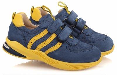 Кроссовки TOPITOP 618 для мальчиков сине-желтые, нубук